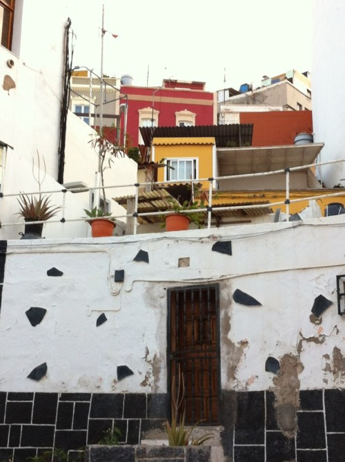 Houses on the hillside in Las Palmas old town