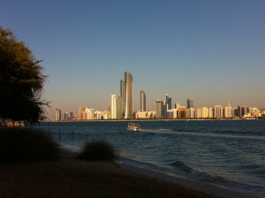 A view of the Corniche, Abu Dhabi