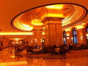 The hall of Emirates Palace Hotel, Abu Dhabi