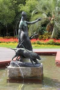 A statue in Fitzroy Gardens, Melbourne