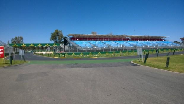 Albert Park preparing for the Grand Prix 2014
