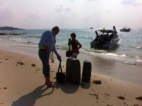 Tourists leaving the island of Ko Samet