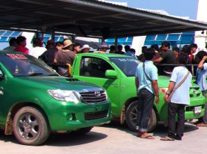 Public transport on Ko Samet