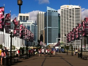 Walking-bridge in Darling Harbour, Sydney