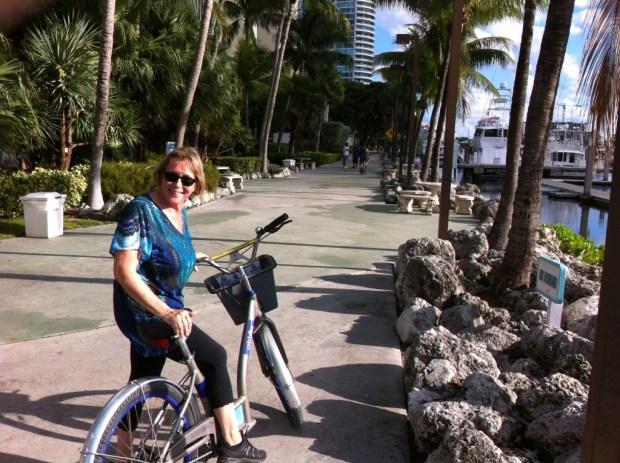 Cycling along Miami Beach