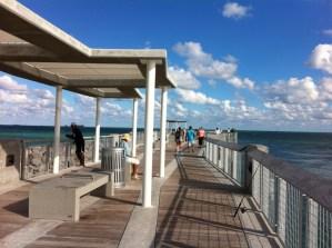 Cycling along Miami Beach, South Pointe Pier