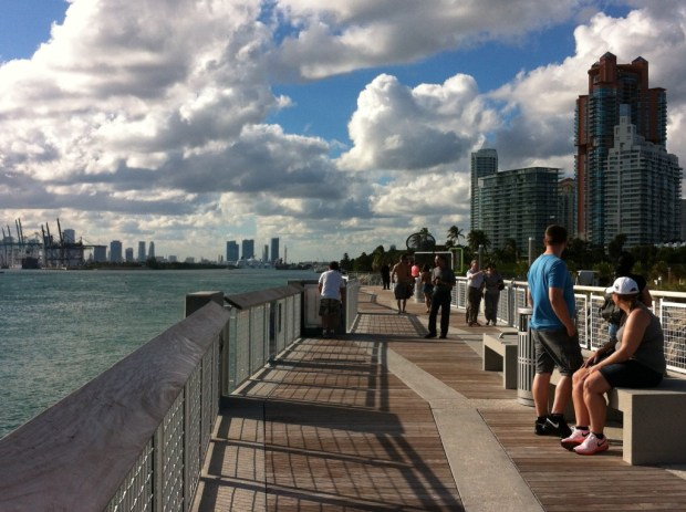 Cycling along Miami Beach, The South Point