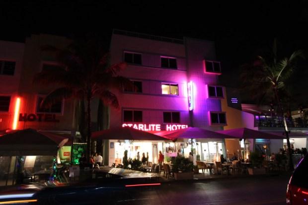 Ocean Drive night life on Miami's South Beach