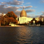 The US Capitol seen from the National Mall