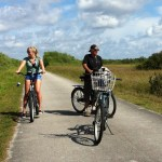 Cycling in Shark Valley, the Everglades
