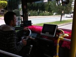 A dolmus bus, Turkey