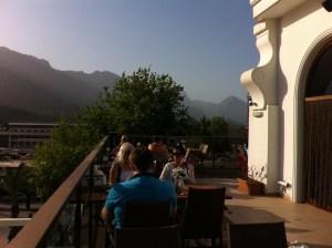 A restaurant terrace in Kemer, Antalya