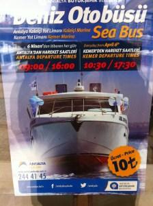 Sea Bus to Kemer, Antalya