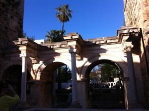 Hadrian's Gate in Antalya Old Town