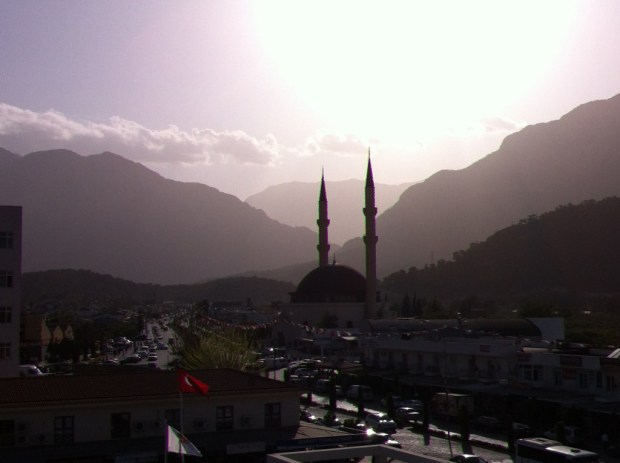 Antalya to Kemer, Sunset in Kemer