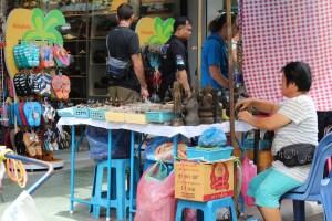 Street life in Bangkok Old Town