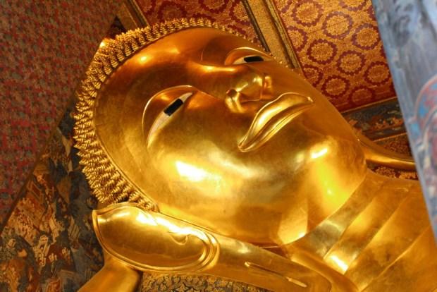 The Reclining Buddha, Wat Pho, Bangkok by river boat