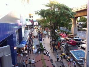 Bangkok metro train and street life