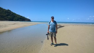 River on the beach, Cape Tribulation