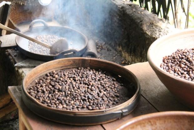 Bali coffee roasting