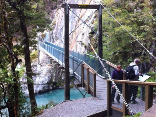 Blue Pools hanging bridge