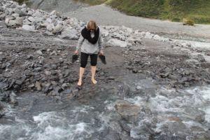 Fox Glacier river crossing