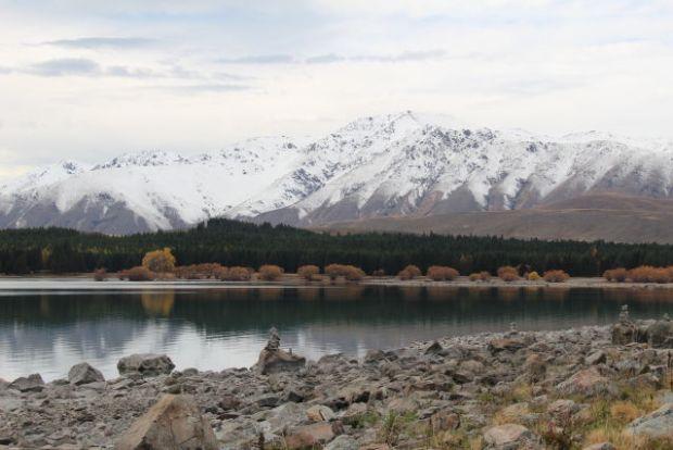 Lake Tekapo mountain view