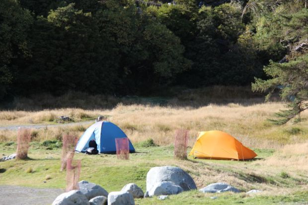 Camping in Aoraki Mount Cook National Park