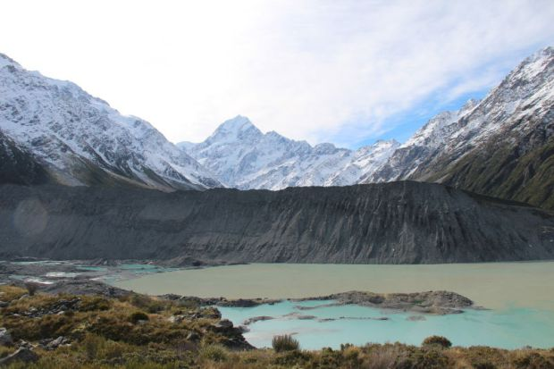 Mueller Glacial Lake view