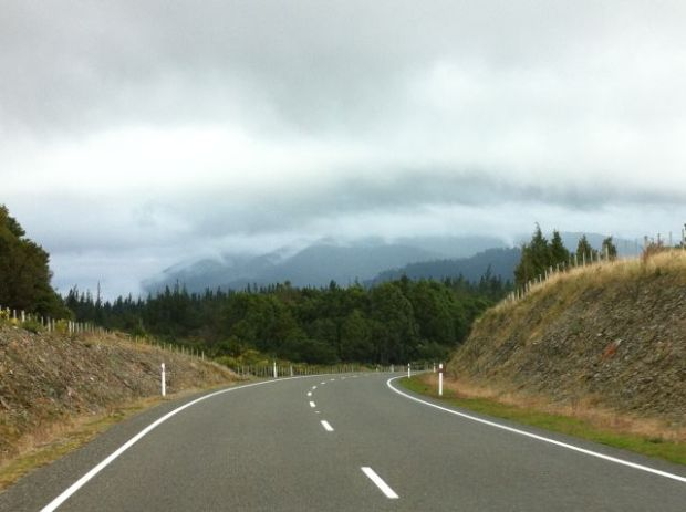 Driving in New Zealand, the West Coast road