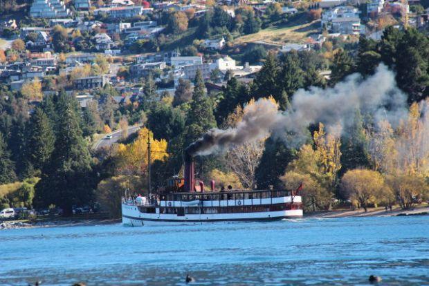 Queenstown, New Zealand: a Lake Wakatipu steam cruiser