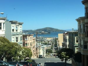 Alcatraz from San Francisco hills