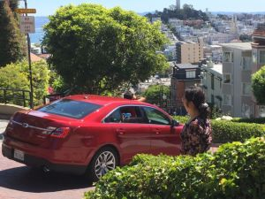 Driving on Lombard Street San Francisco