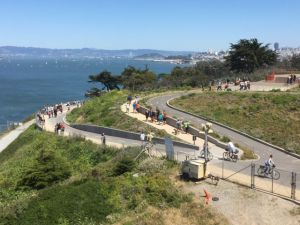 Golden Gate Bridge walking track