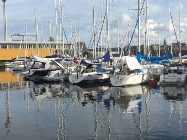 Stockholm marina view