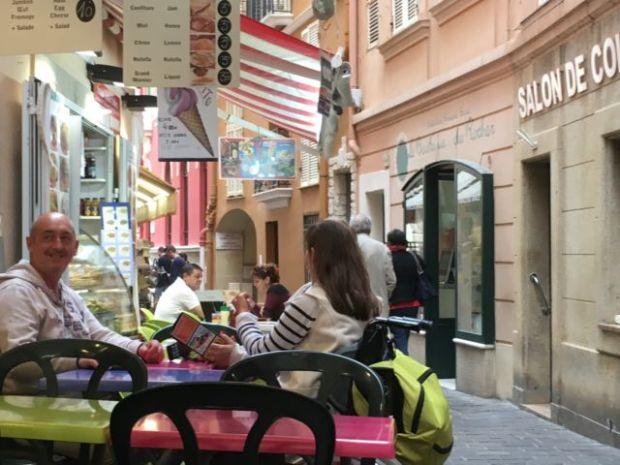 Monaco-Ville cafe