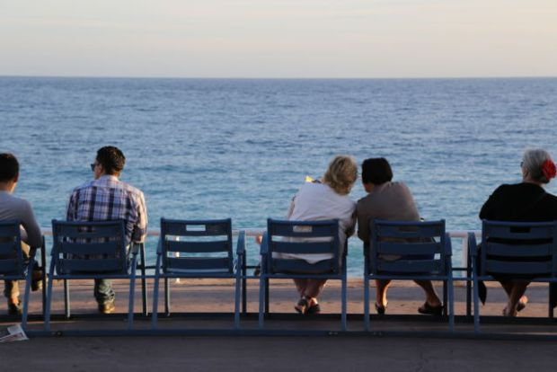 Nice in one day, chairs on Promenade des Anglais