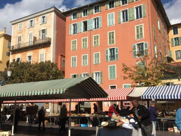 Nice Old Town street market stalls