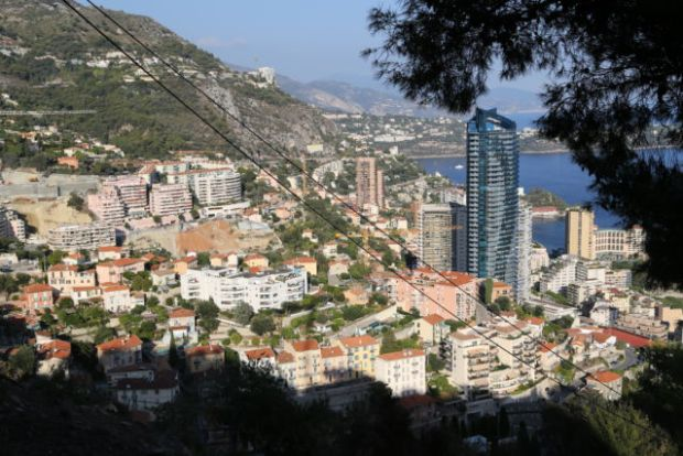 One day in Monaco, view from the hills