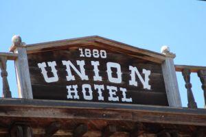 Los Alamos California Union Hotel sign