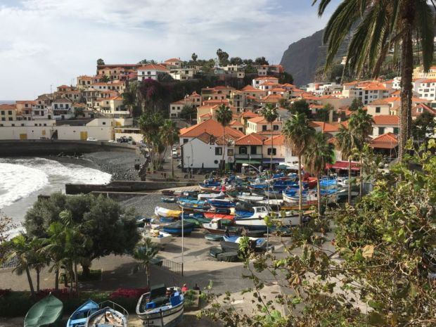 Driving in Madeira: Camara de Lobos fishing village