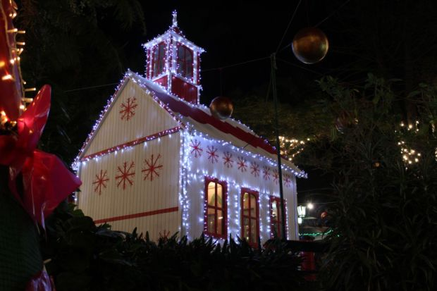 Funchal Christmas church in park