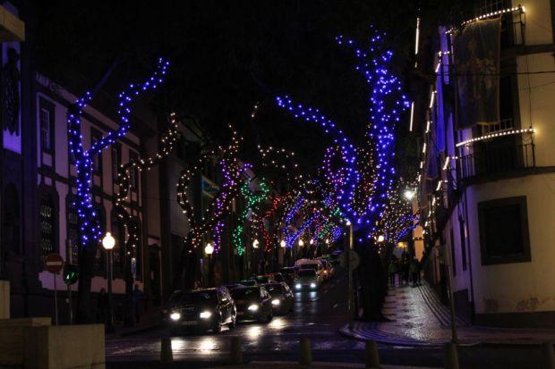 Funchal evening lights
