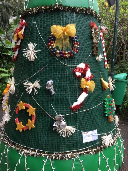 Funchal municipal park Christmas tree