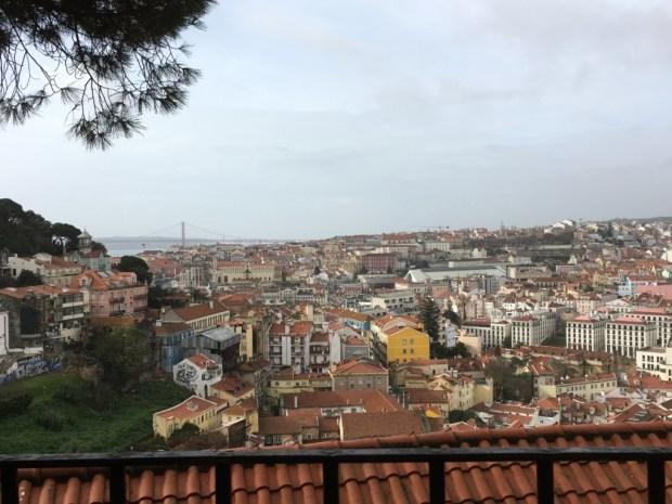 Lisbon Baixa city view