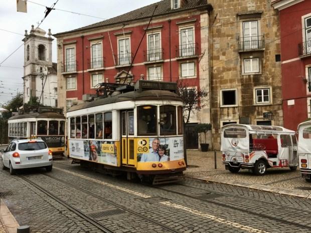 Touring Lisbon on tram 28 Alfama