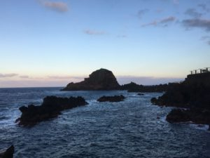Porto Moniz volcanic rocks shoreline