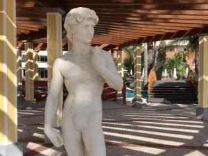 Royal Savoy pool area statue