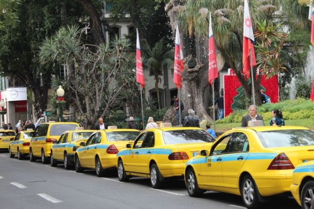 Taxis waiting for customers