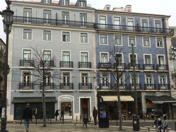 Touring Lisbon on tram 28, tiled azulejo houses of Bairro Alto